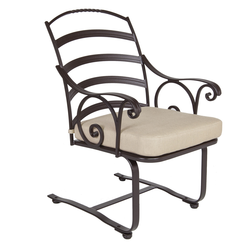 OW Lee Siena Spring Base Dining Arm Chair - 8263-SB