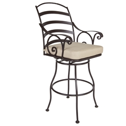 OW Lee Siena Swivel Bar Stool with Arms - 8263-SBS
