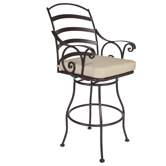 Ow Lee Siena Wrought Iron Swivel Bar Stool