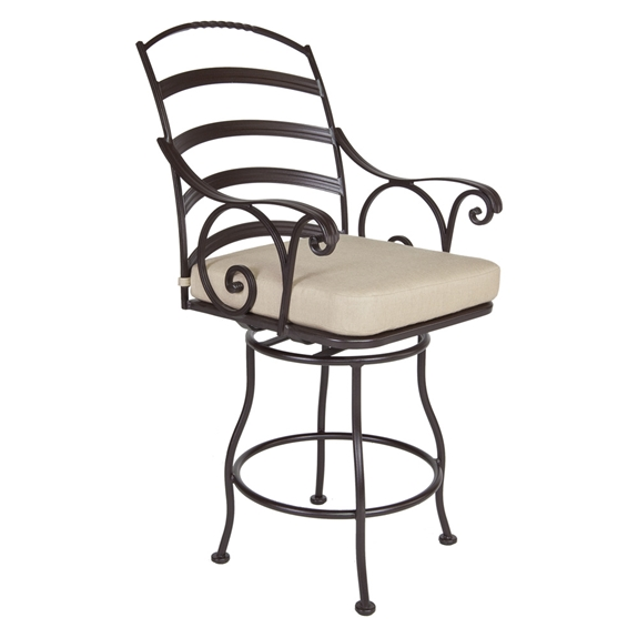 OW Lee Siena Swivel Counter Stool with Arms - 8263-SCS