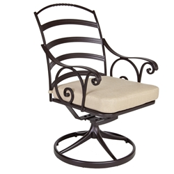 OW Lee Siena Swivel Rocker Dining Arm Chair - 8263-SR