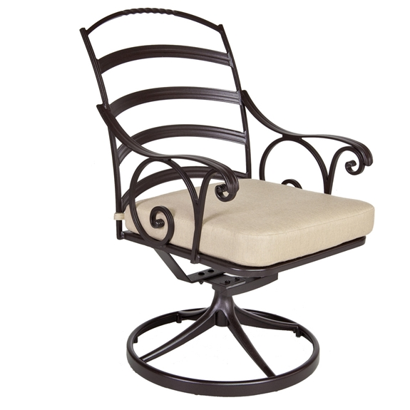 Awesome Ow Lee Siena Wrought Iron Swivel Rocker Dining Chair Bralicious Painted Fabric Chair Ideas Braliciousco