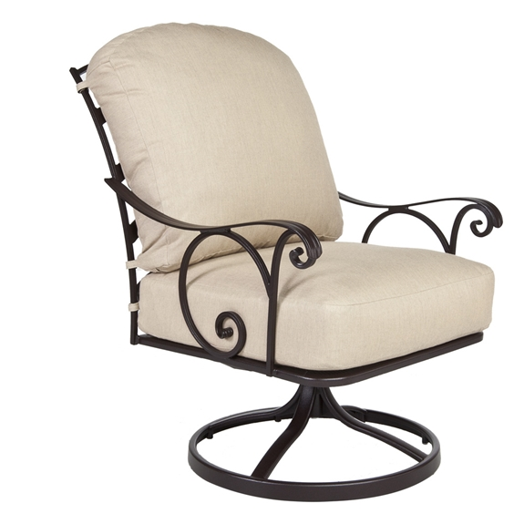 Fabulous Ow Lee Siena Wrought Iron Swivel Rocker Lounge Chair Bralicious Painted Fabric Chair Ideas Braliciousco
