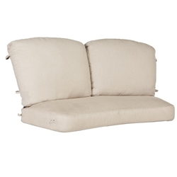 OW Lee Siena PlushComfort Crescent Love Seat Replacement Cushions - OW-62-2S