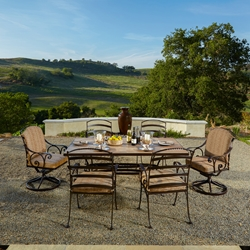 OW Lee Siena Wrought Iron Outdoor Dining Set - OW-SIENA-SET1