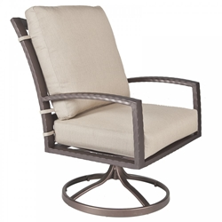 OW Lee Sol Club Swivel Rocker Dining Arm Chair - 48114-SR
