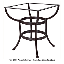 OW Lee Square Tube Aluminum Dining Table Base - WA-DT03