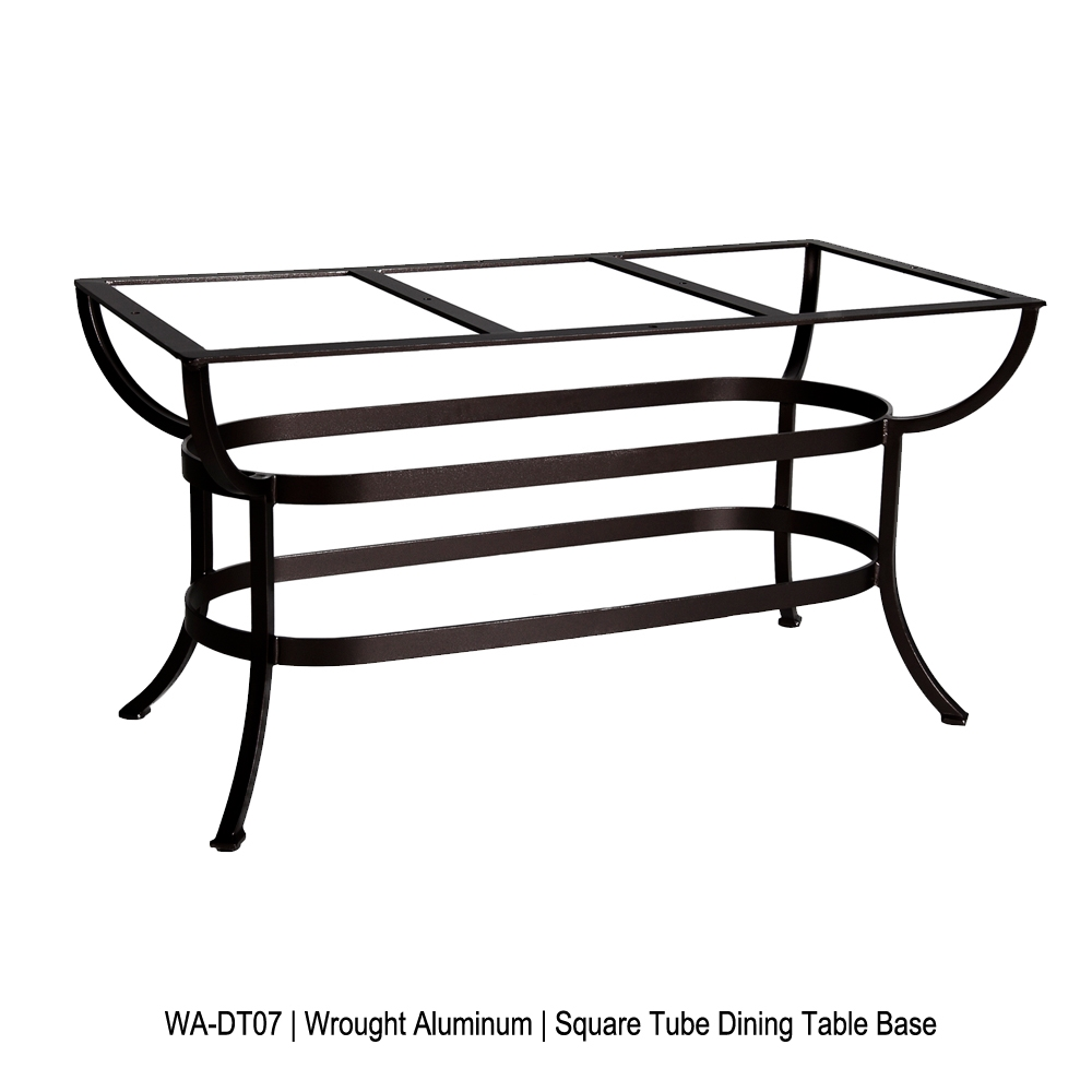 OW Lee Square Tube Aluminum Rectangle Dining Table Base - WA-DT07