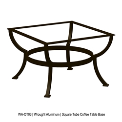 OW Lee Square Tube Aluminum Coffee Table Base - WA-OT03