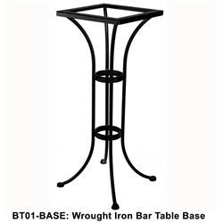 OW Lee Standard Wrought Iron Bar Height Bistro Table Base - BT01-BASE