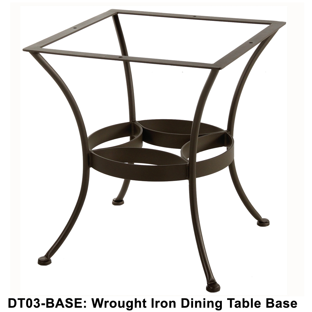 Wrought Iron Round Table.Ow Lee Standard Wrought Iron Dining Table Base