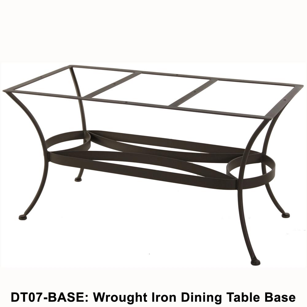 Ow Lee Standard Wrought Iron Rectangular Dining Table Base