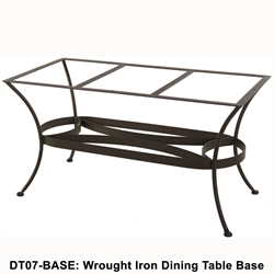 OW Lee Standard Wrought Iron Table Bases
