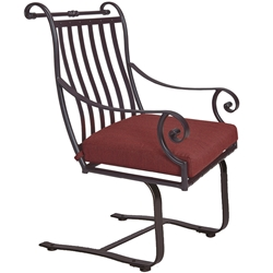 OW Lee St. Charles Spring Base Dining Arm Chair - 2653-SB