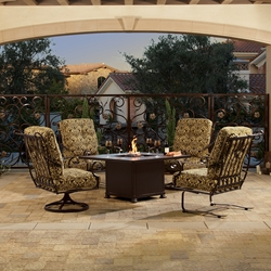 OW Lee St Charles 5 Piece Fire Pit Chat Set - OW-STCHARLES-SET1