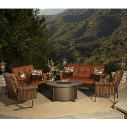 OW Lee Vista Lounge Set with Fire Pit Table