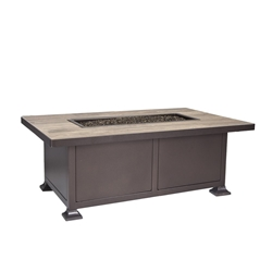 "OW Lee OW Lee Vulsini 30""x50"" Occasional Height Aluminum Fire Pit - 5120-3050O"