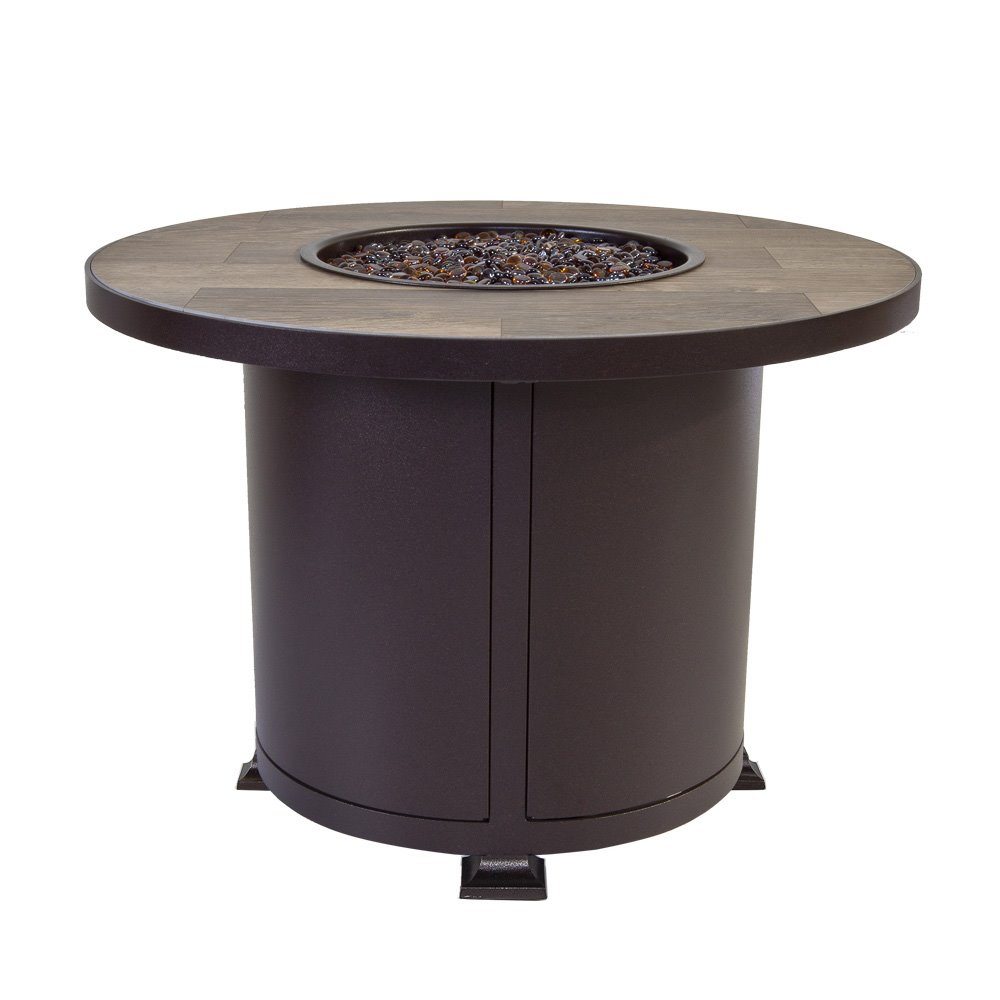 "OW Lee OW Lee Vulsini 36"" Round Chat Height Aluminum Fire Pit - 5120-36RDC"