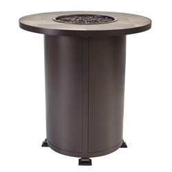 "OW Lee OW Lee Vulsini 36"" Round Counter Height Aluminum Fire Pit - 5120-36RDK"