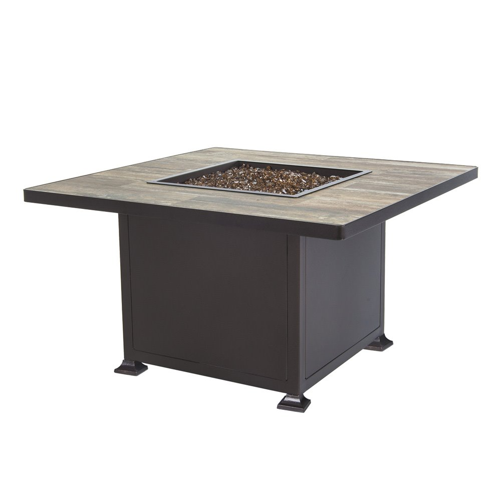 "OW Lee  OW Lee Vulsini 42"" Square Chat Height Aluminum Fire Pit - 5120-42SQC"