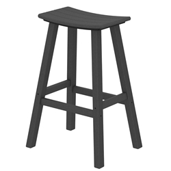 PolyWood Traditional 30 inch Tall Saddle Bar Stool - 2002