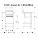 Captain Bar Chair Dimensions