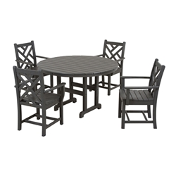 PolyWood Chippendale 5 Piece Dining Set - PW-CHIP-SET2