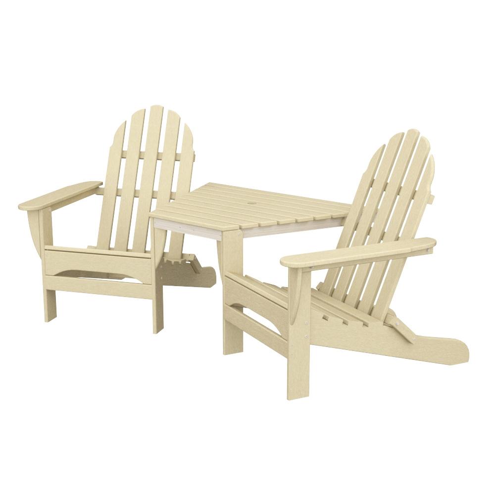 Sensational Polywood Classic Adirondack Tete A Tete Theyellowbook Wood Chair Design Ideas Theyellowbookinfo