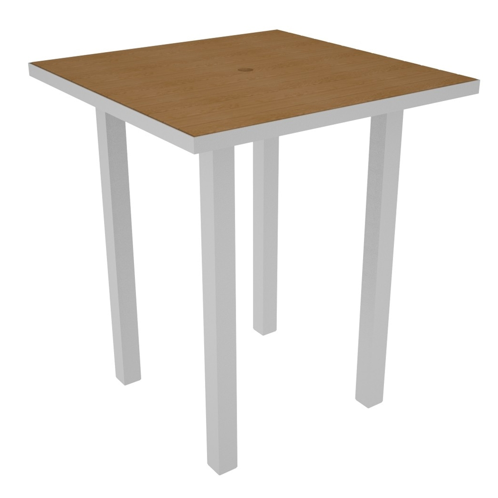 PolyWood Euro 36 inch Square Bar Table - ATB36
