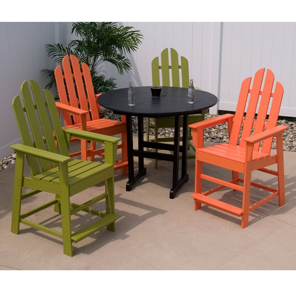 Patio Furniture In Long Island: POLYWOOD® Long Island 5 Piece Counter Set