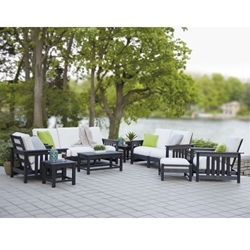 polywood outdoor dining set bar polywood mission piece patio set pwmissionset2 plastic lumber hdpe outdoor furniture