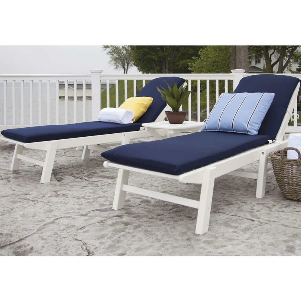 PolyWood Nautical Chaise Set - PW-NAUTICAL-SET2