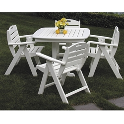PolyWood Nautical 5 Piece Patio Dining Set - PW-NAUTICAL-SET4