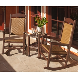 PolyWood Presidential Woven Rocker 3 Piece Set - PW-ROCKER-SET2