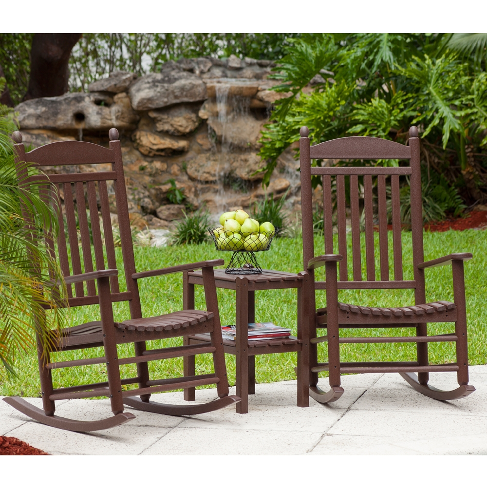 Polywood 174 Jefferson Woven Rocker 3 Piece Set Pw Rocker Set4
