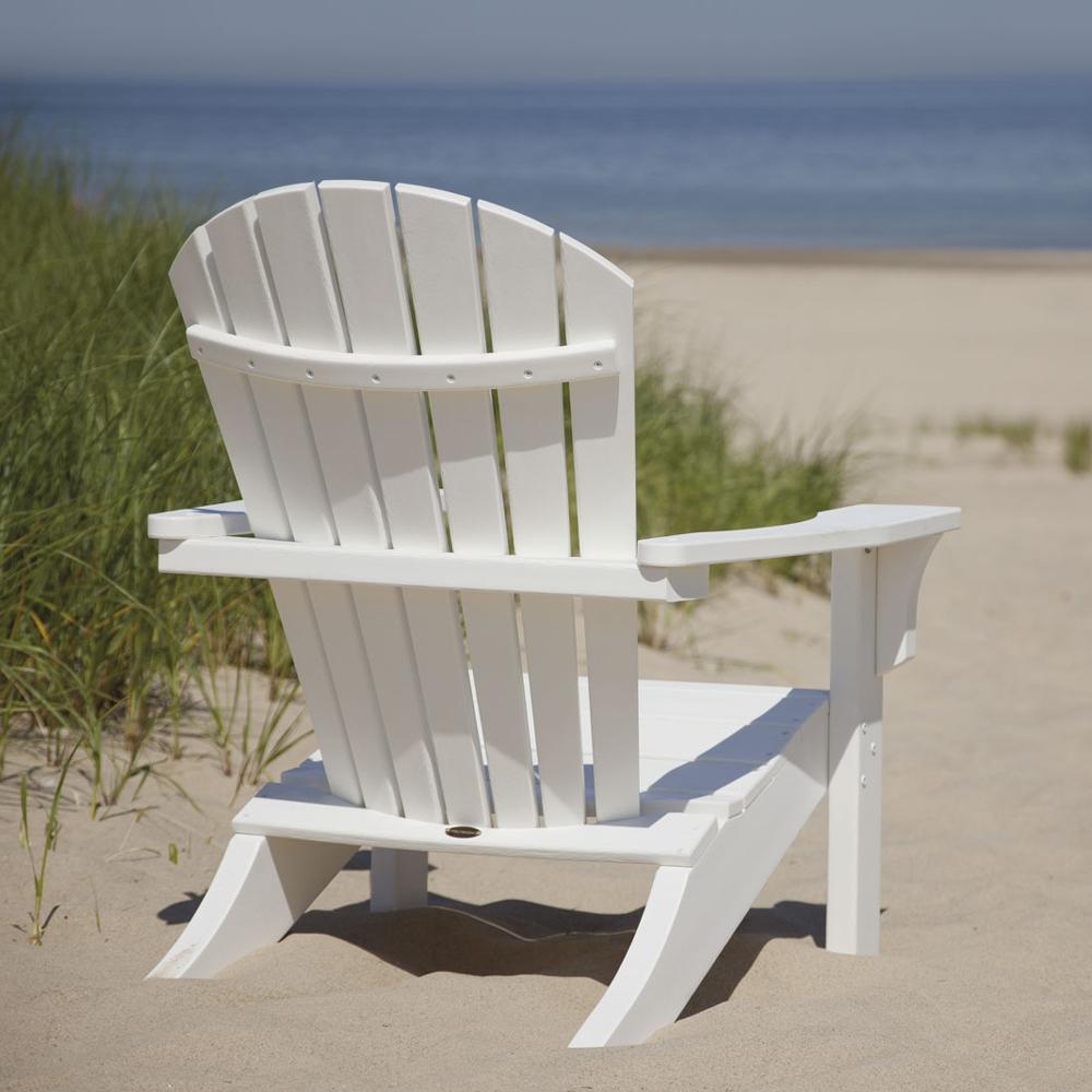 Polywood 174 Seashell Adirondack Chair Sh22