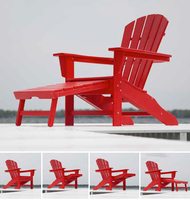 Polywood 174 South Beach Ultimate Adirondack Chair Hna15