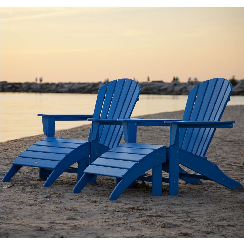 PolyWood South Beach 4 Piece Adirondack Set - PW-SOUTHBEACH-SET5