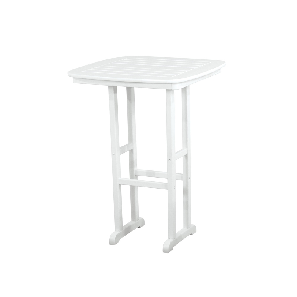PolyWood Nautical 31 inch Square Bar Table - NCBT31