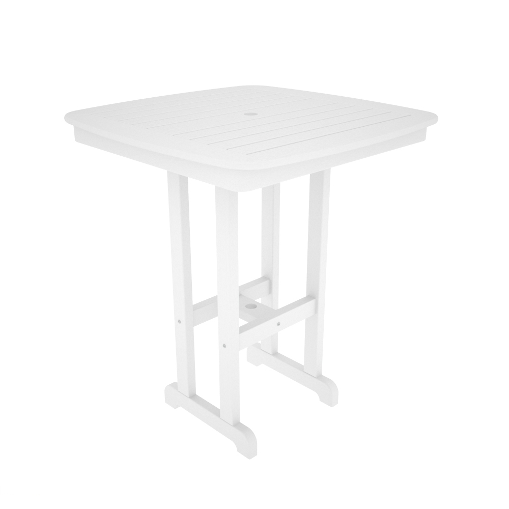 PolyWood Nautical 37 inch Square Bar Table - NCBT37