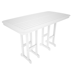 PolyWood Nautical 37 inch by 72 inch Bar Table - NCBT3772