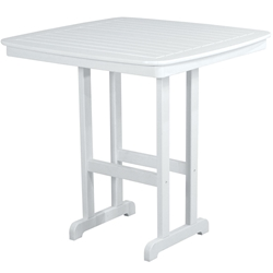 PolyWood Nautical 44 inch Square Bar Table - NCBT44