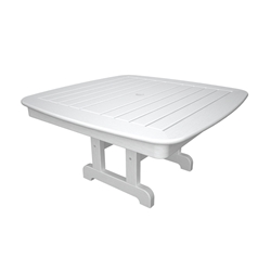 PolyWood Nautical 37 inch Square Conversation Table - NCCT37