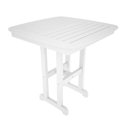 PolyWood Nautical 37 inch Square Counter Table - NCRT37