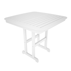 PolyWood Nautical 44 inch Square Counter Table - NCRT44