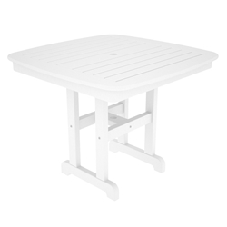 PolyWood Nautical 37 inch Square Dining Table - NCT37