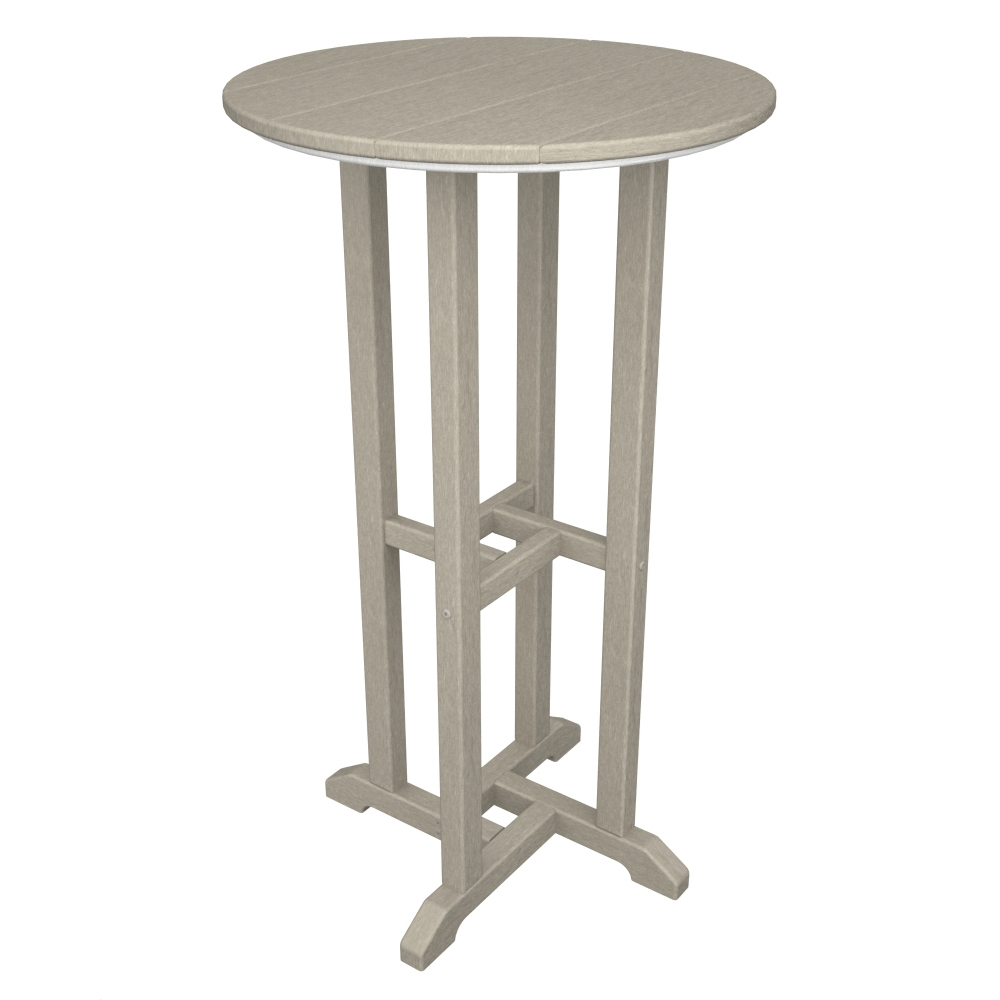 PolyWood Traditional 24 inch round Bar Table - RBT124
