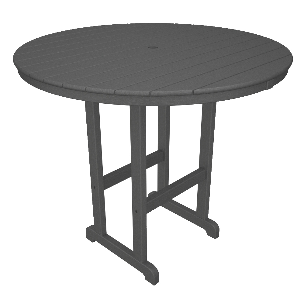 PolyWood 48 inch Round Bar Table - RBT248