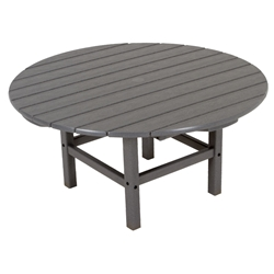 PolyWood 38 inch Round Conversation Table - RCT38