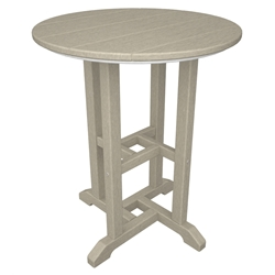 PolyWood Traditional 24 inch round Dining Table - RT124